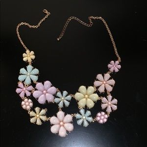 Flower Statement Necklace!